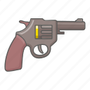 barrel, gun, pistol, revolver, shoot, six, weapon icon