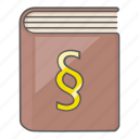 book, document, law, legal, security, social icon