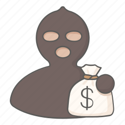 bank, criminal, money, robber, steal, theft, thief icon