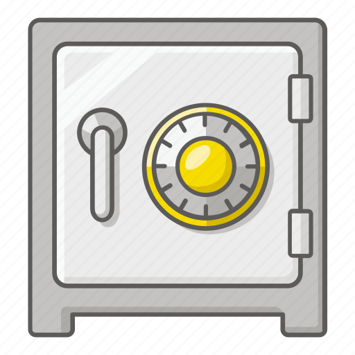 box, lock, money, safe, secure, valuables, vault icon