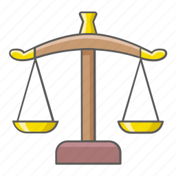 court, judge, justice, law, legal, scales, weighing icon