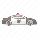 car, cruiser, enforcement, law, patrol, police, vehicle icon