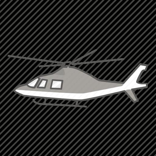 charter, civil, helicopter, police, private, rescue, tour icon