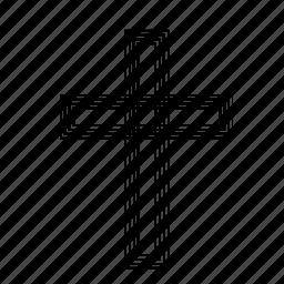 abstract, catholic, christian, cross, religion, sign icon