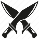 warrior, saber, knight, weapon, cross, fight, sword icon