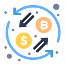 currency, exchange, transformation icon