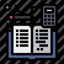 accounting, accounts, book, calculator, mathematics