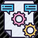 communication, document, feedback, file, management icon