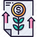 banking, business, financial, growth, investment, money icon