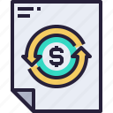 business, document, exchange, file, money icon