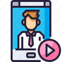 call, communication, gif, mobile, smartphone, video icon