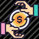 cash, donation, exchange, money, payment icon
