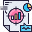 analysis, business, data, document, goal, report icon