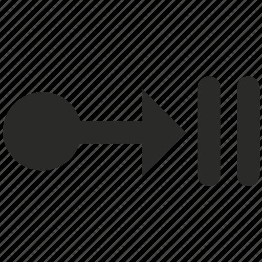 aim, arrow, collision, crash, navigation, target, way icon