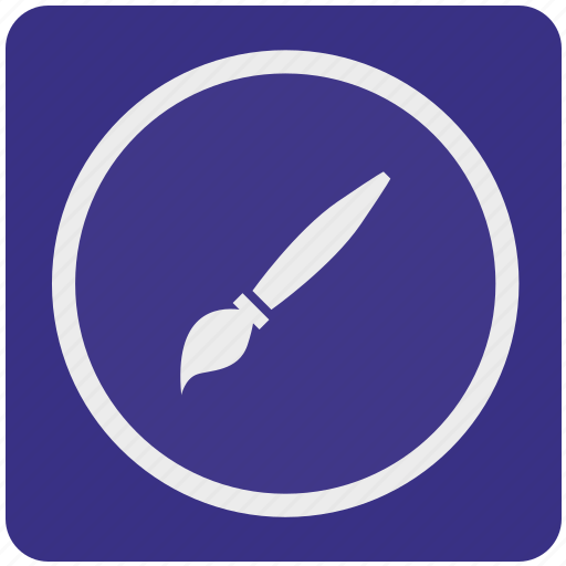 art, brush, design, draw, instrument, tool icon