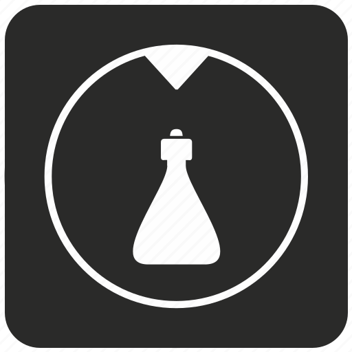 bottle, chemistry, empty, fluid, glass, retort icon