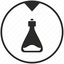 biology, bottle, chemistry, fluidtesting, laboratory, test, water icon
