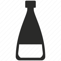 bottle, chemistry, fluid, glass, lab, water icon