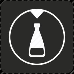 bottle, chemistry, fluid, glass, retort, water icon