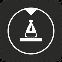 acid, bottle, chemistry, experiment, fluid, lab icon