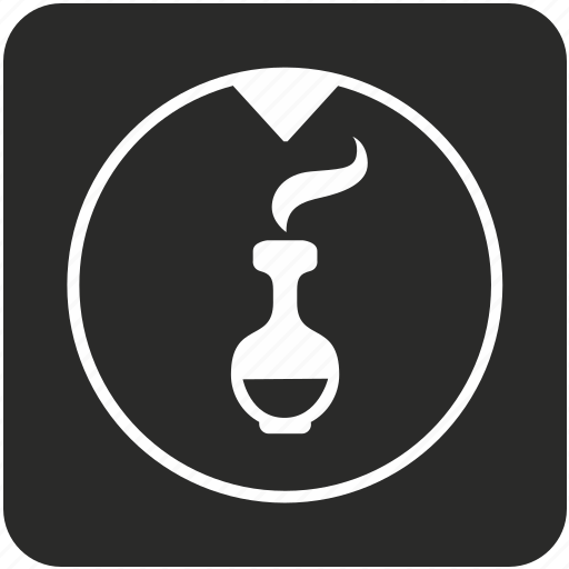 bottle, chemistry, cocktail, compound, fluid, glass, smoke icon