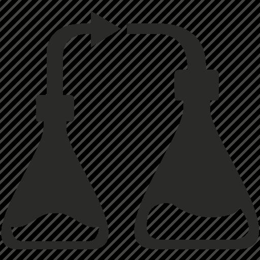 chemistry, flask, fluid, glass, lab, liquid, test icon