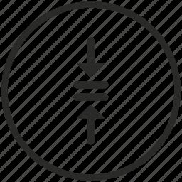 arrows, collision, conflict, crash, navigation, place icon