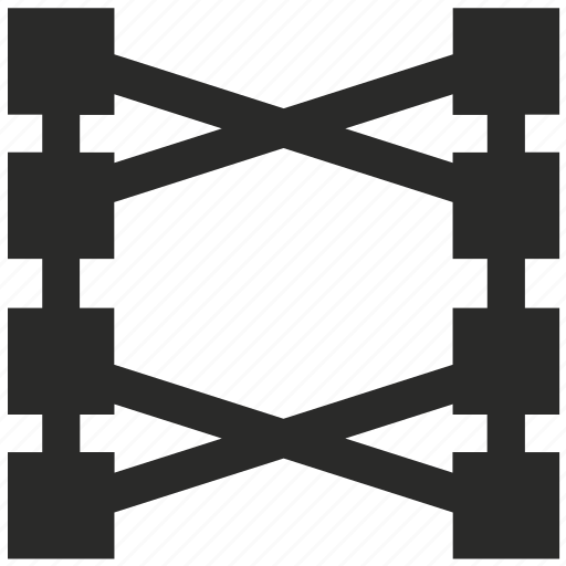 communication, commutator, connect, cross, curve, line, phone icon