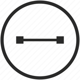 connection, dot, geometry, line, objec, section, segment icon