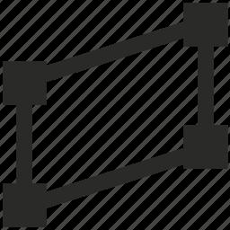 curve, figure, geometry, object, polygon icon