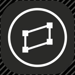 figure, geometry, object, polygon, shape, tool icon