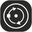 circle, curve, geometry, object, rotate, round, tool icon