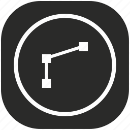 curve, dot, logistics, road, section, transport, way icon