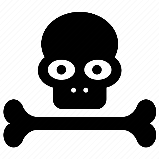 bones, danger, dead, death, head, skeleton, skull icon