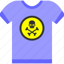 clothes, death, head, rip, shirt, skull, tshirt icon