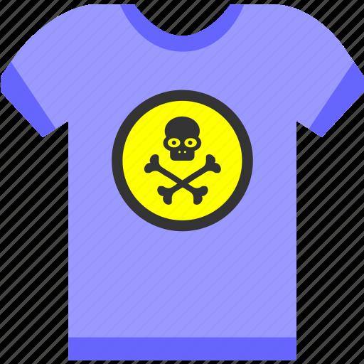 clothes, death, head, rip, shirt, skull, tshirt icon