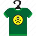 clothes, dead, death, halloween, head, skull, tshirt icon