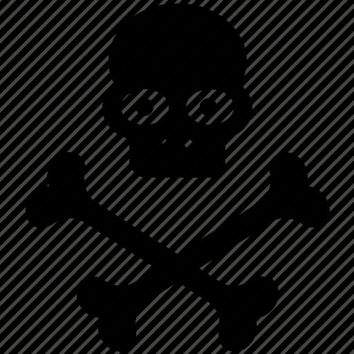 bones, danger, dead, death, halloween, head, skull icon