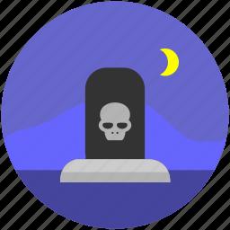 danger, dead, death, grave, halloween, skeleton, skull icon