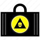 bag, case, dead, death, head, skull icon