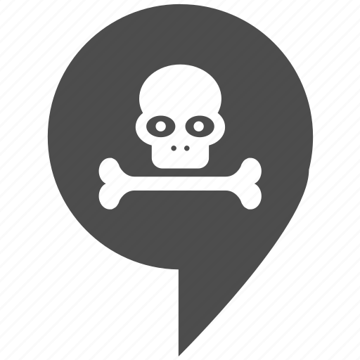 death, head, location, map, pointer, rip, skull icon