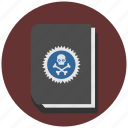 book, dead, death, rip, skeleton, skull icon