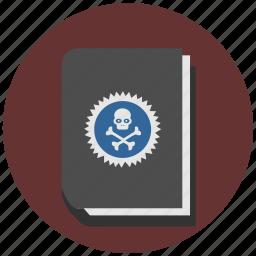 book, dead, death, rip, skeleton, skull icon