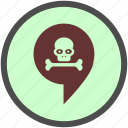 danger, death, grave, halloween, skeleton, skull, tomb icon
