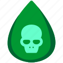 danger, death, drop, fluid, halloween, poison, skull icon