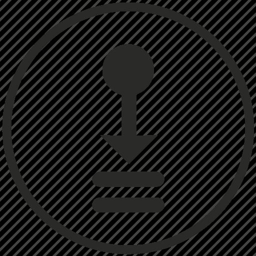 doc, document, download, file, line, queue icon