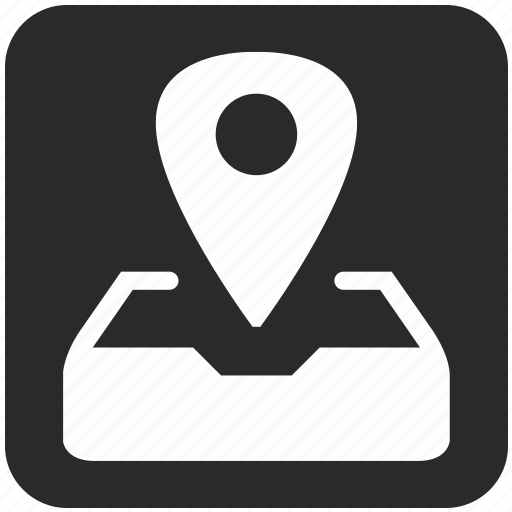 document, email, geo, location, mail, pointer, post icon
