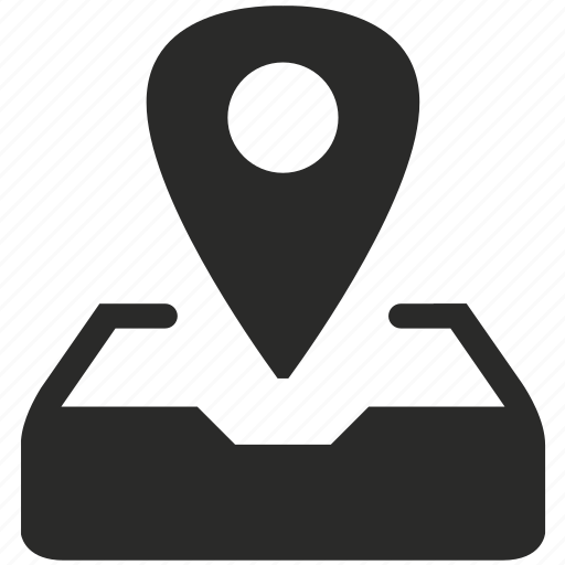 document, geo, location, mail, navigation, pointer, post icon