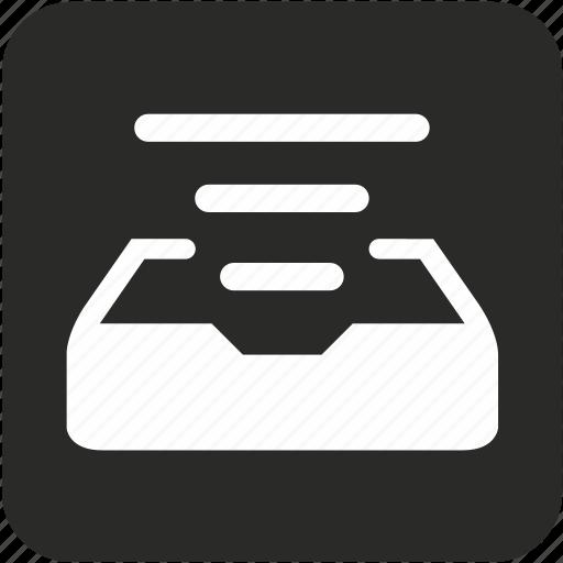 archive, doc, document, line, mail, queue icon