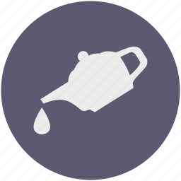 coffee, dishes, drink, drop, pot, tea, water icon
